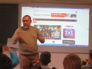 Visita de Francisco Valencia, director del diario Co Latino de El Salvador