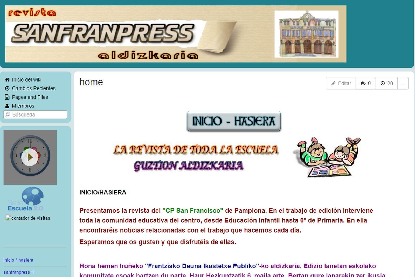 """Sanfranpress""  Aldizkaria"