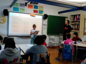 """Bertsolaritza programa"" en la escuela"