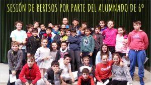 SESIÓN DE BERTSOS POR PARTE DEL ALUMNADO DE 6º