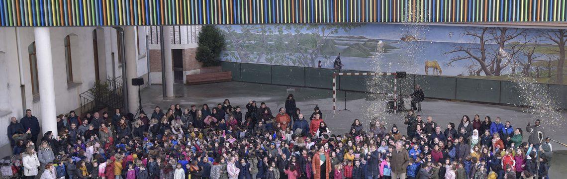 Inauguración de la cubierta del patio